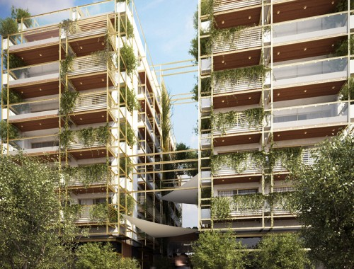 <b>Green45. Eight-floor bioclimatic twin building with underground car park at Vas. Irakliou Str. in Thessaloniki </b><br/>DOMOTECHNIKI S.A.