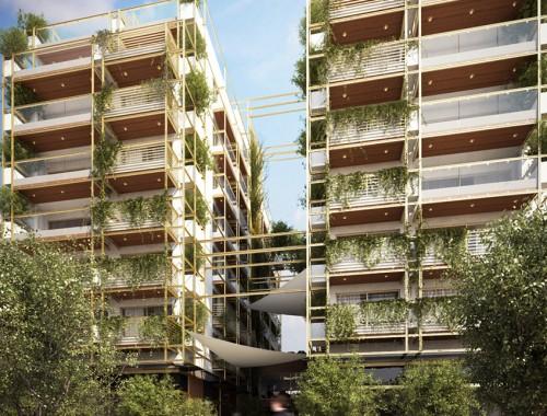 <b>Green45. Οκταώροφο βιοκλιματικό δίδυμο κτίριο καταστημάτων και κατοικιών με υπόγειο χώρο στάθμευσης στην οδό Βασιλέως Ηρακλείου</b><br/> ΔΟΜΟΤΕΧΝΙΚΗ Α.Ε.