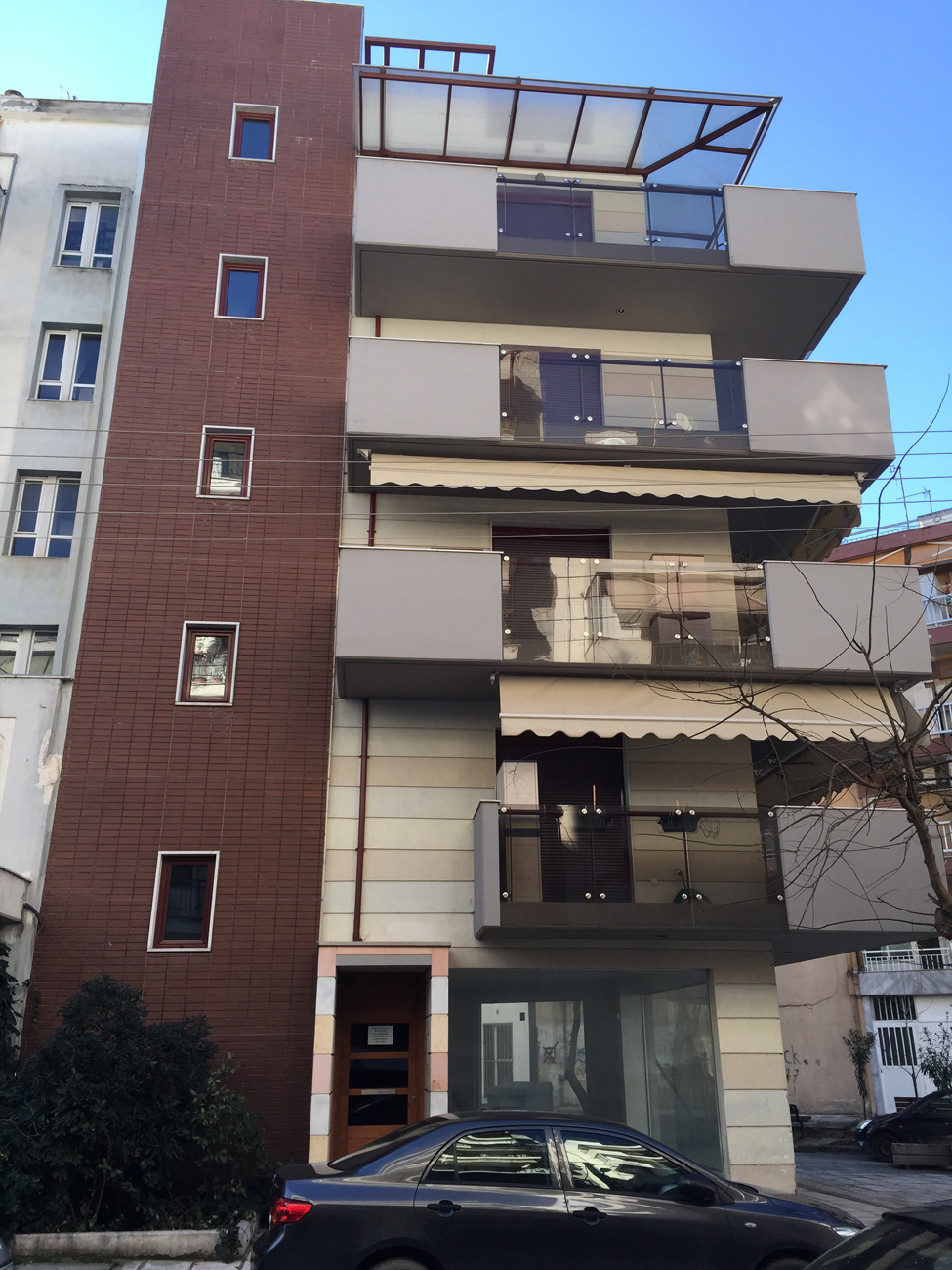Four storey apartment building in stavroupoli thessaloniki design construction domotechniki s a
