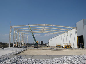 <b>Construction of a new building and extensions of the pipework fabrication and the recycling buildings</b></br>PALAPLAST S.A.